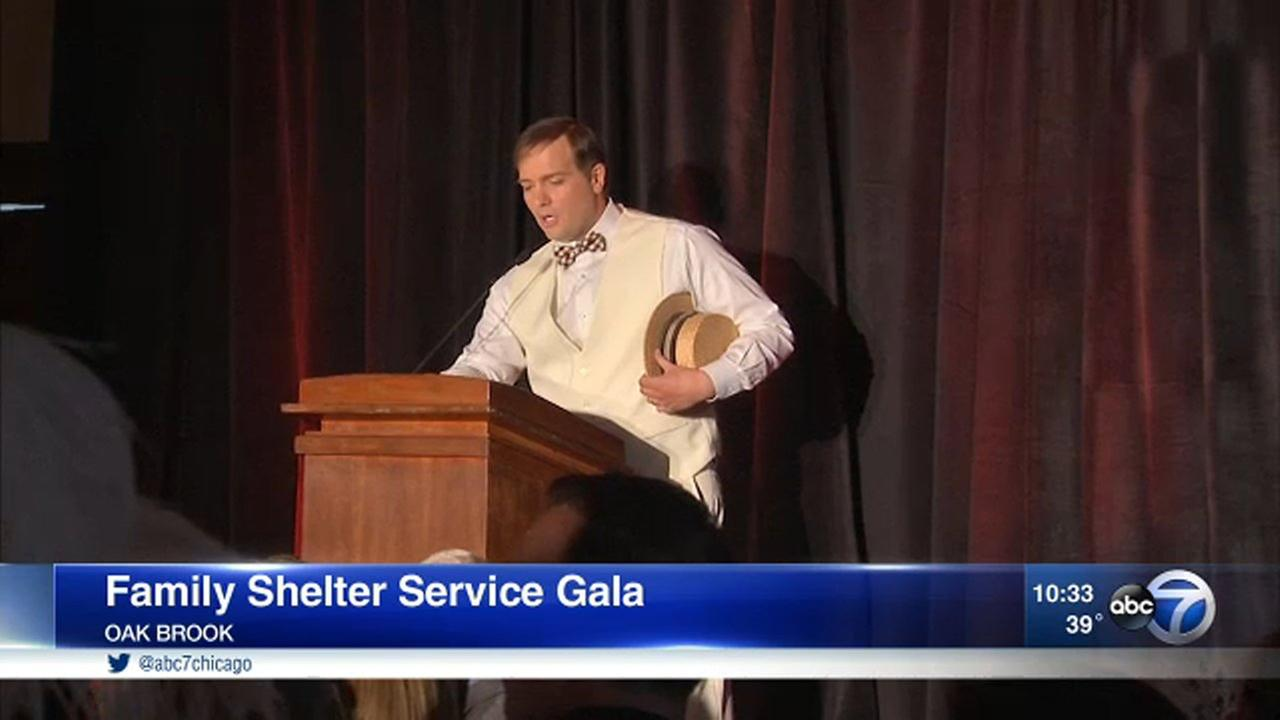 ABC7s Larry Mowry served as emcee for the Family Shelter Service Gala Saturday.