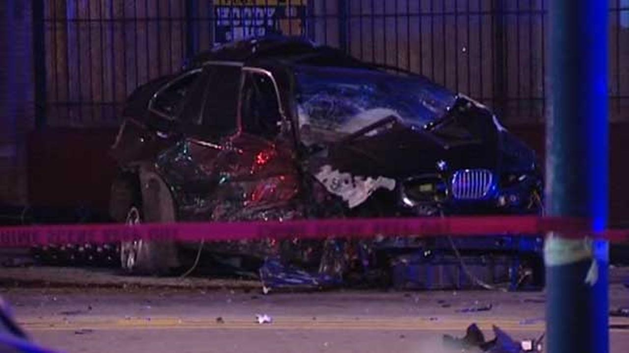 Two people were killed and a Chicago police sergeant was injured after an SUV rear-ended a squad car in the 4000-block of West Ogden Avenue.