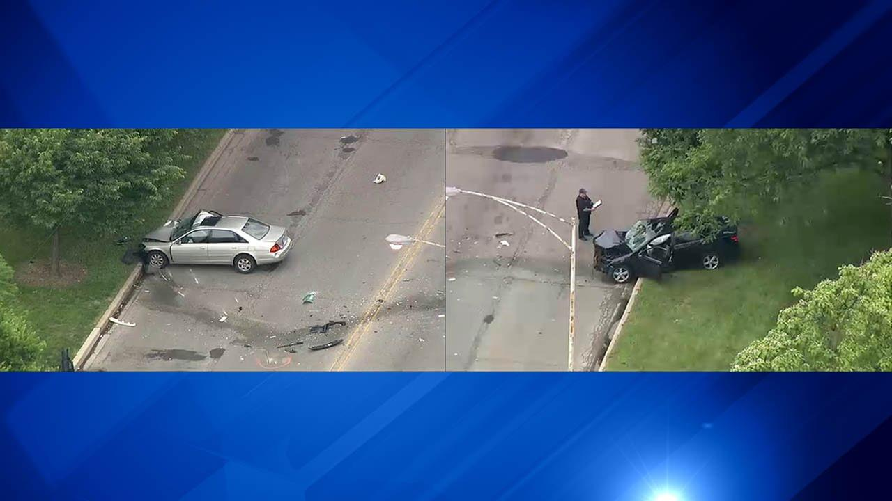 Chopper 7HD flew over the scene of an early morning crash Friday involving a Lyft ride. The passenger died. The Lyft driver and the driver who caused the crash were hospitalized.
