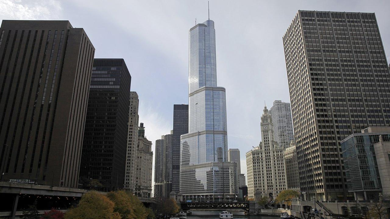 Trump International Hotel and Tower is seen along Chicago River Friday, Nov. 8, 2013, in Chicago.