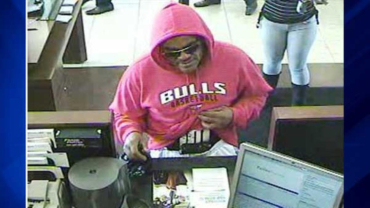 Surveillance photo of male suspect in robbery of Chase Bank branch in 7100-block of West Grand Avenue.