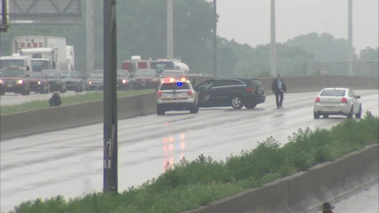 Illinois State Police investigate after a man was fatally shot on the Stevenson Expressway near Kedzie Thursday morning.