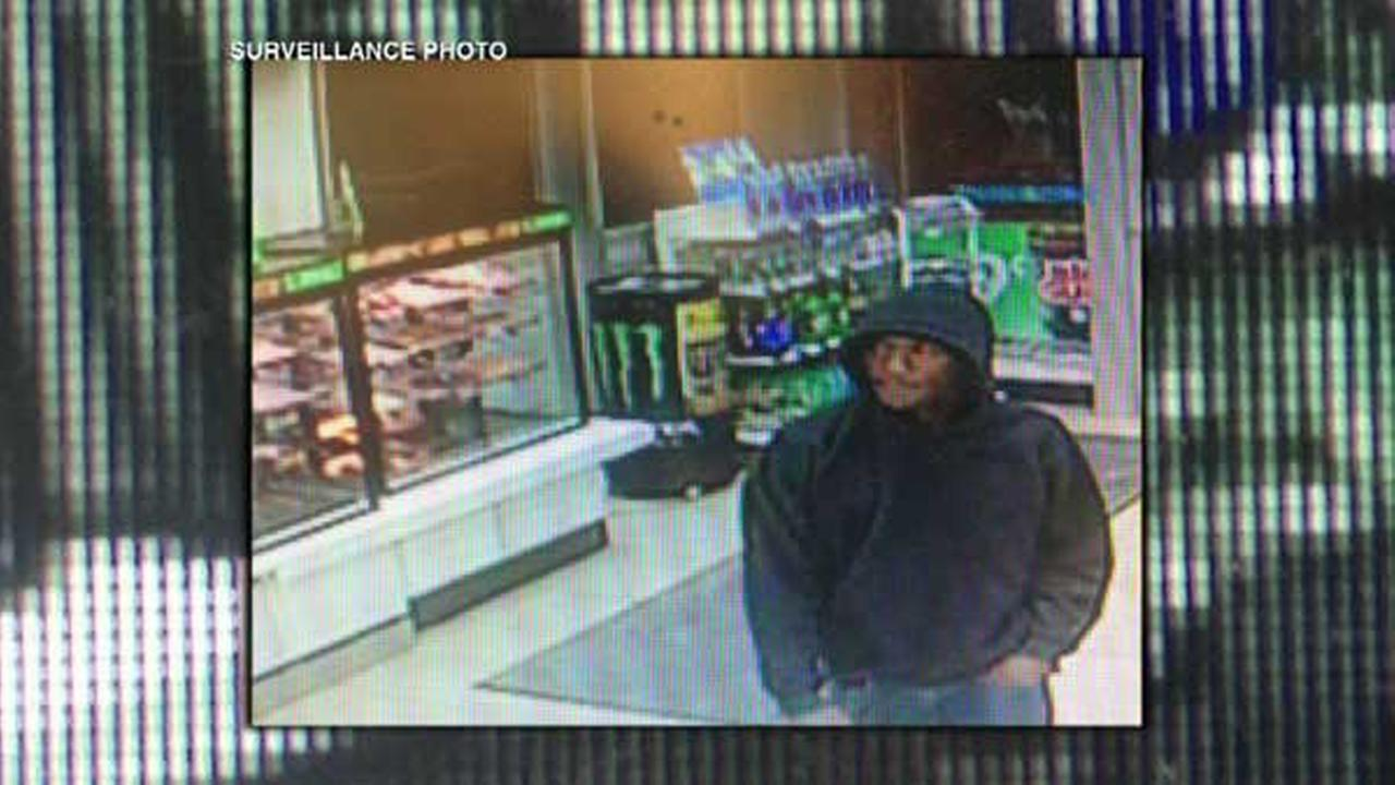 Chicago police released a surveillance photo of a man suspected in two robberies in the Loop.