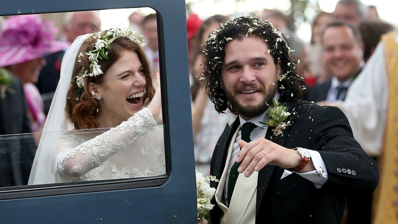 Game of Thrones stars Kit Harington and Rose Leslie are married
