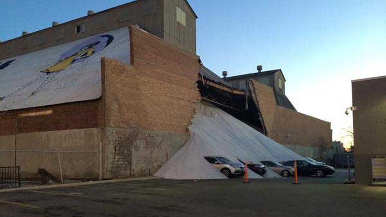 A wall collapsed at the Morton Salt storage facility in Chicagos Goose Island neighborhood in December 2014.