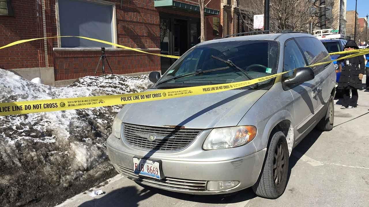 The van with the dogs inside was located on the citys Near South Side around 10:45 a.m. on February 19, 2015.