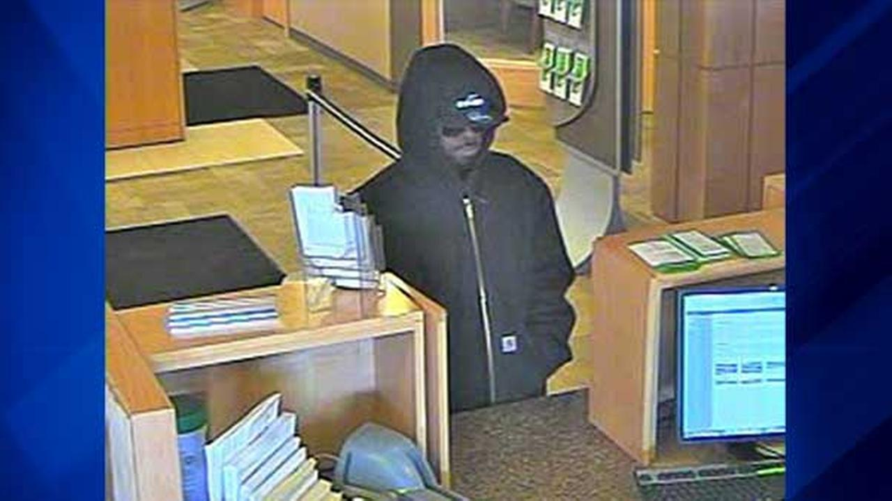 A surveillance photo of the man suspected in the robbery of Associated Bank in the 300-block of West Galena Boulevard in west suburban Aurora.