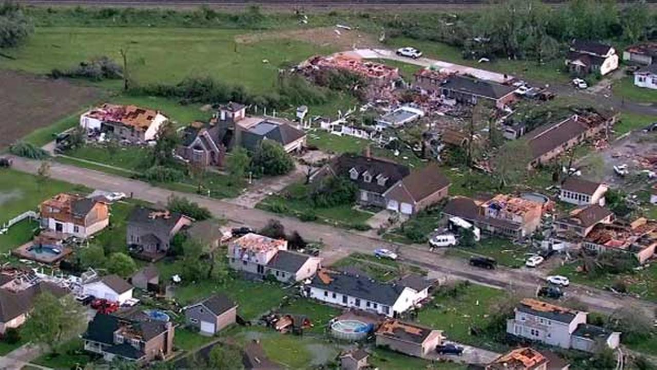 A tornado ripped through Coal City, Ill. for the second time in just under two years.