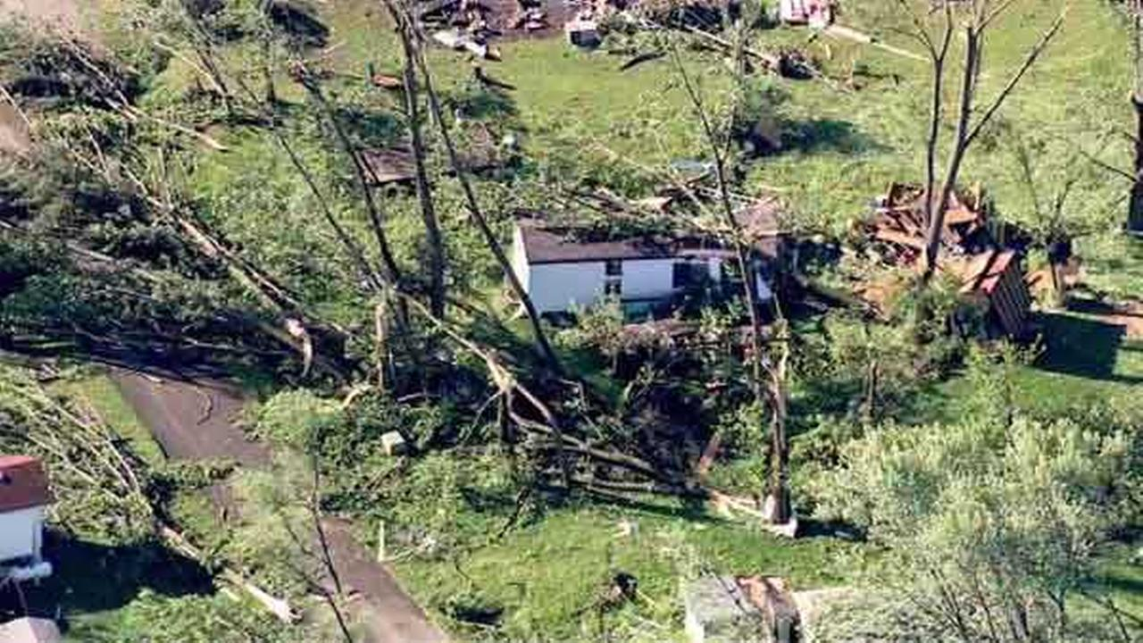 Severe storms decimated Woodhaven Lakes, a private campground spanning 1,800 acres, in Sublette, Ill.