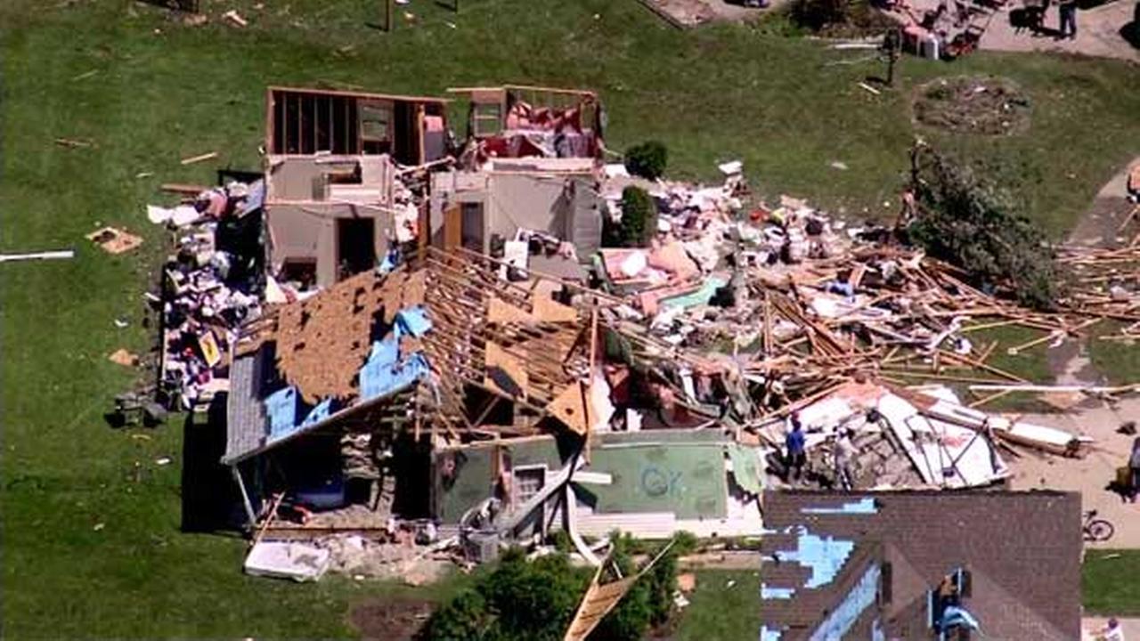 Tornado damage in Coal City, Ill.