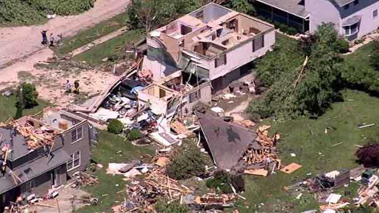 Tornado damage in Coal City, Ill.