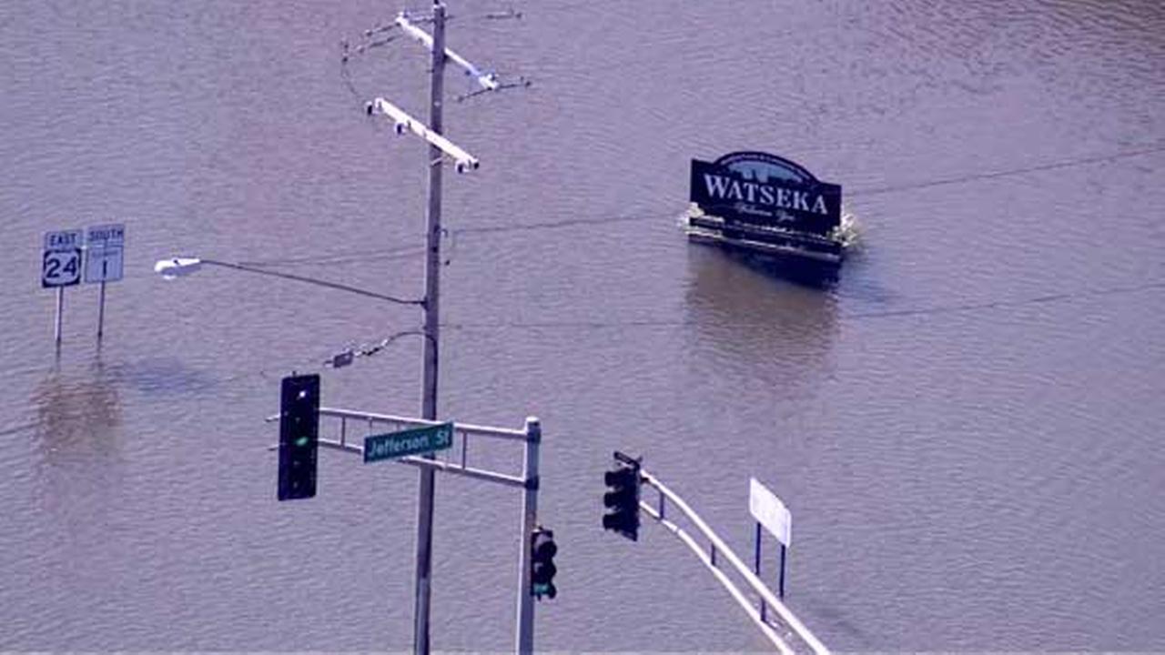 Flooding in Watseka, Ill.