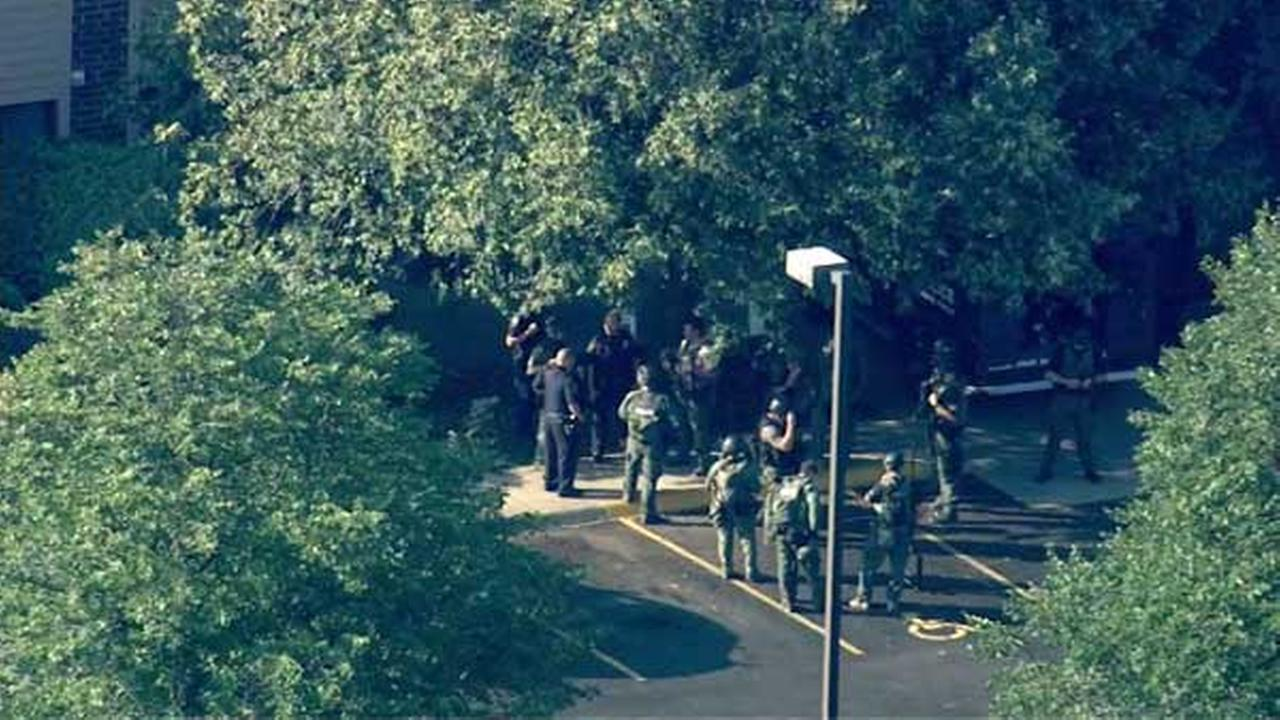 Police responded to an apparent barricade situation in west suburban Lombard.