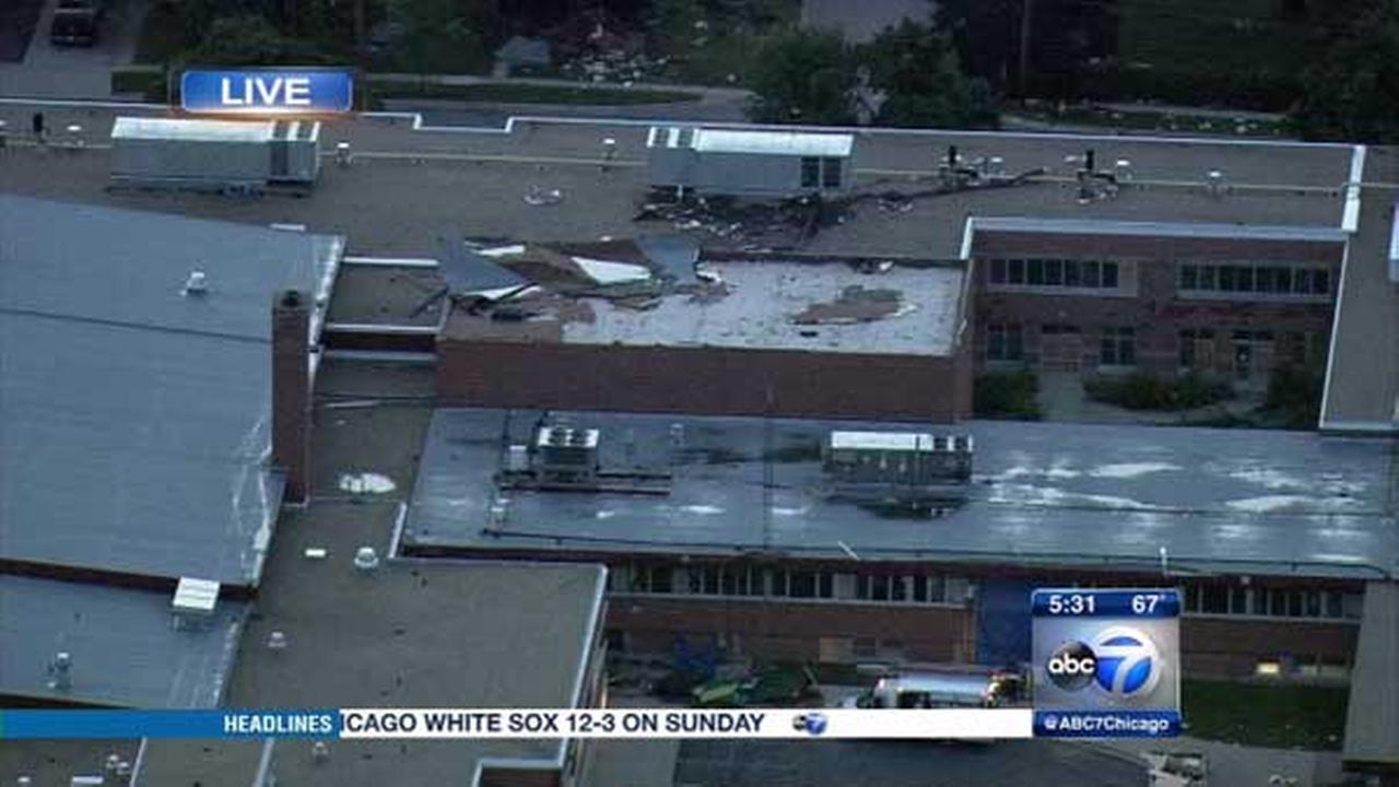 Grayslake in Lake County was among the hardest hit areas as severe storms moved through the Chicago area.