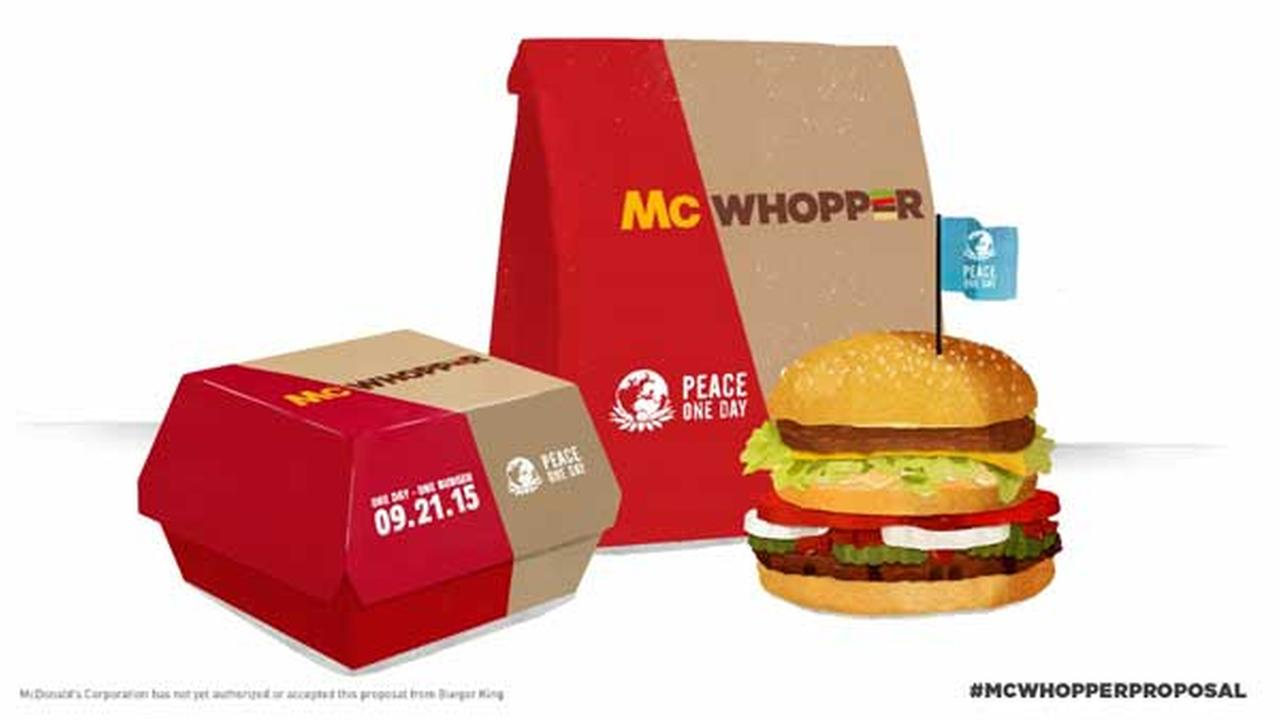 This photo provided by Burger King shows a McWhopper.