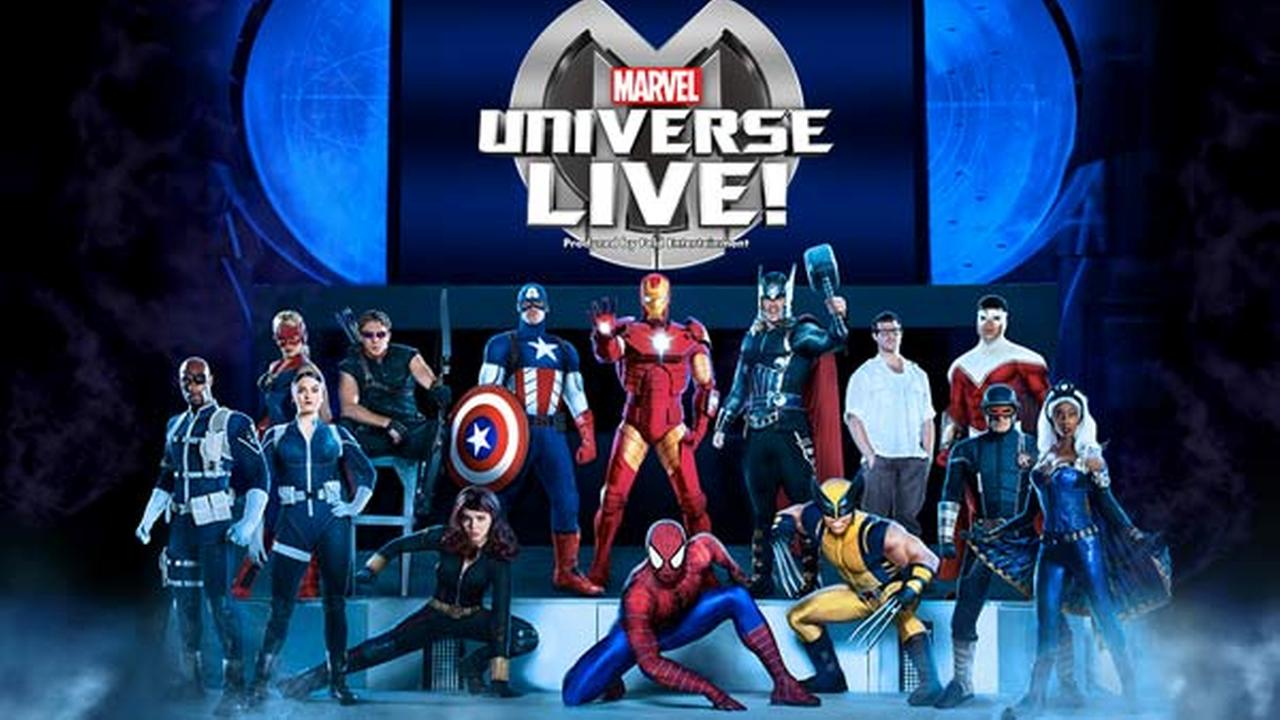 Caption: Marvel Universe LIVE! features over 25 Marvel Super Heroes and villains.