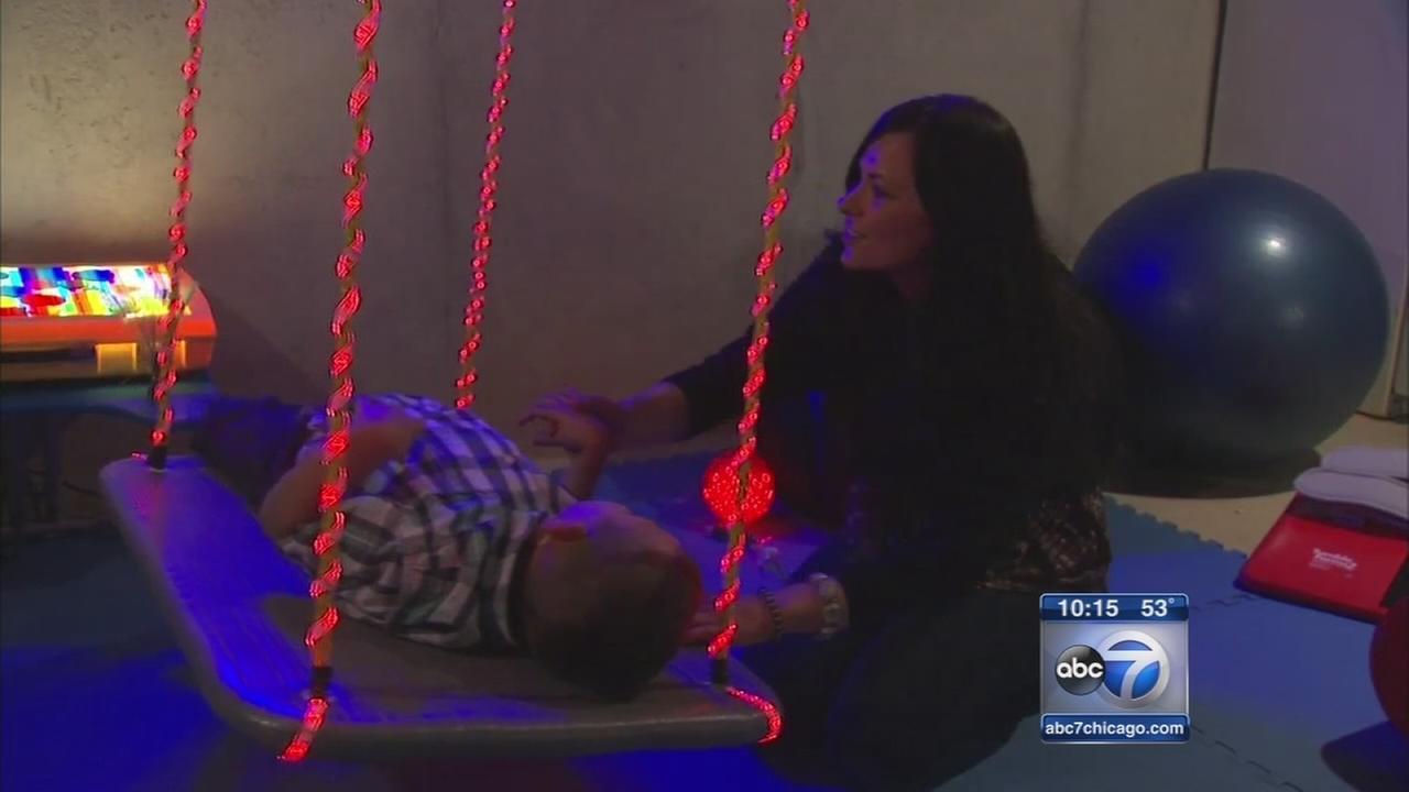 Neighbors build play area for quadriplegic boy