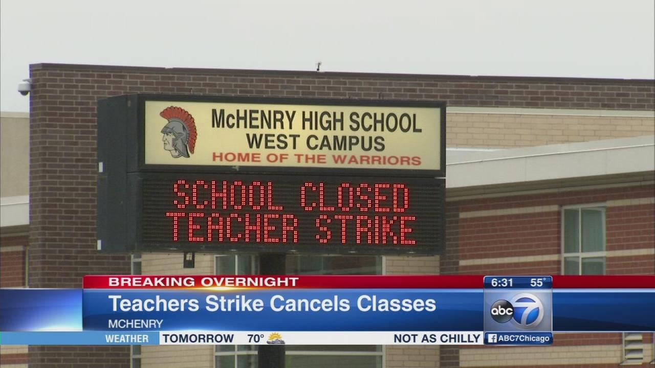 McHenry teachers strike continues Monday, Tuesday