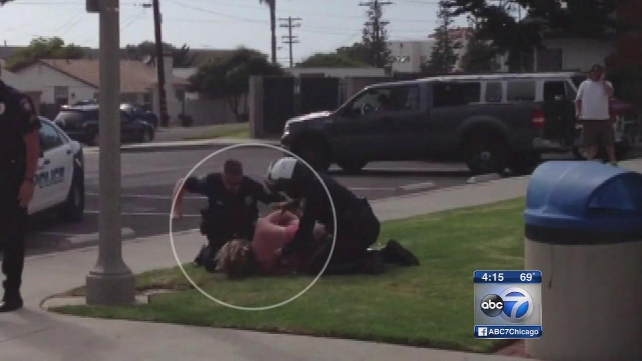 Police beating California mother caught on tape