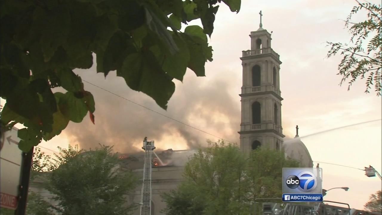 Fire tears through South Side shrine