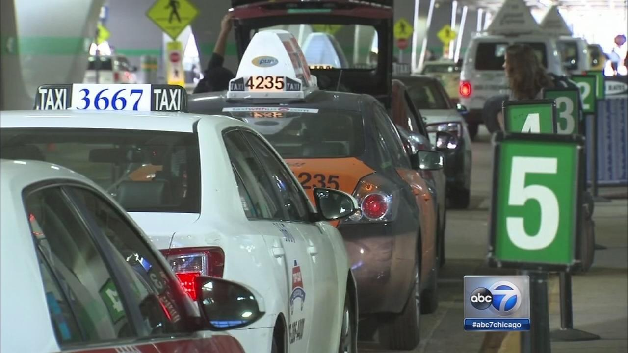 Chicago cab drivers protest Emanuels ride-sharing proposal
