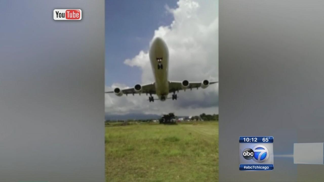 Jet makes low landing