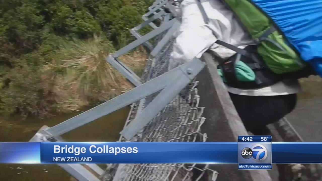 Bridge collapses in New Zealand