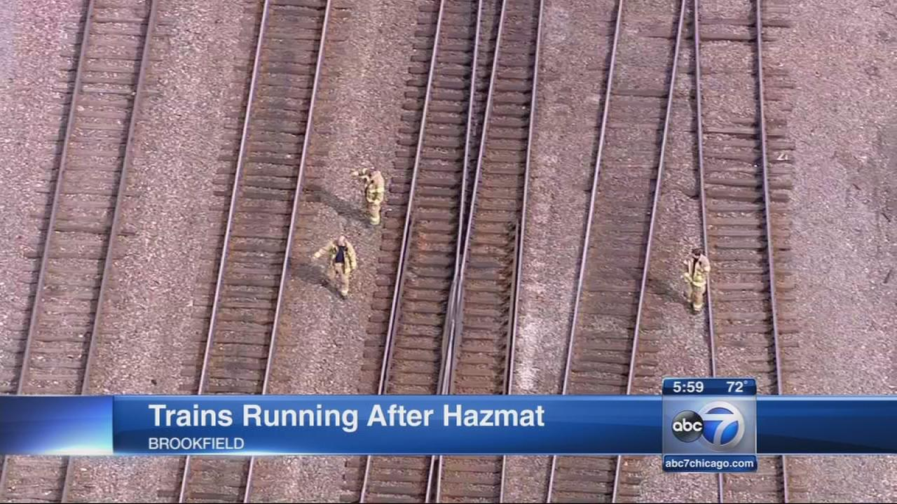 Metra trains moving again after hazmat situation