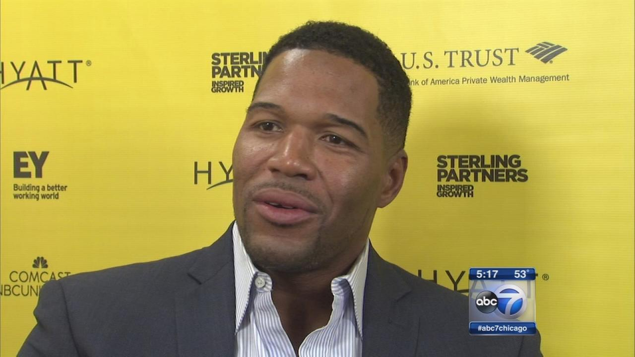 Michael Strahan and Judy Smith in Chicago Ideas Week
