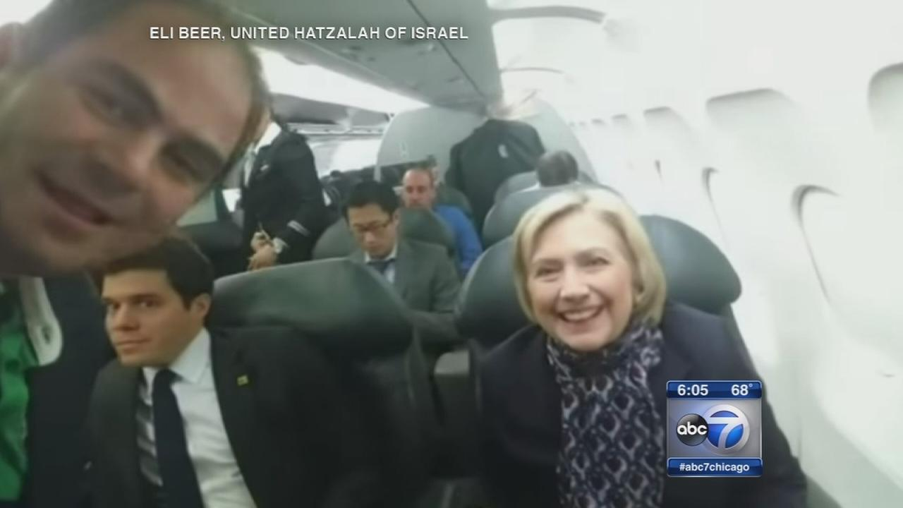 Clinton stops in Chicago for fundraisers