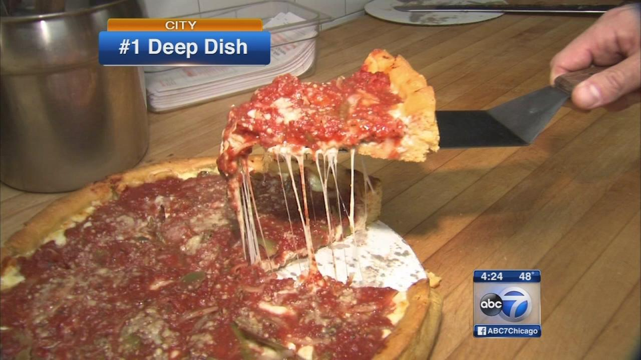 Top deep dish pizzas in Chicago