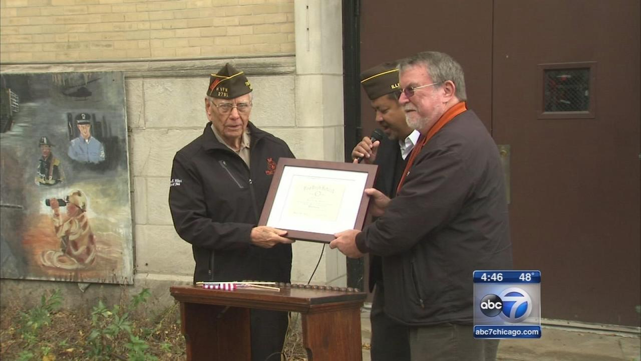 Veteran receives high school diploma