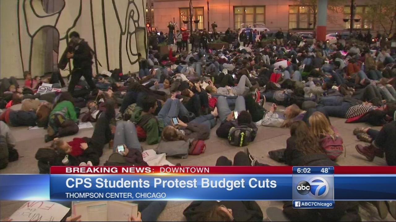 CPS students protest budget cuts