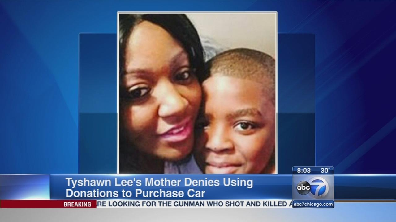 Mother denies spending donated funds