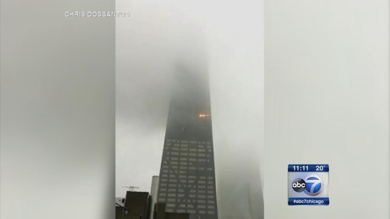 Fire breaks out at Hancock Center