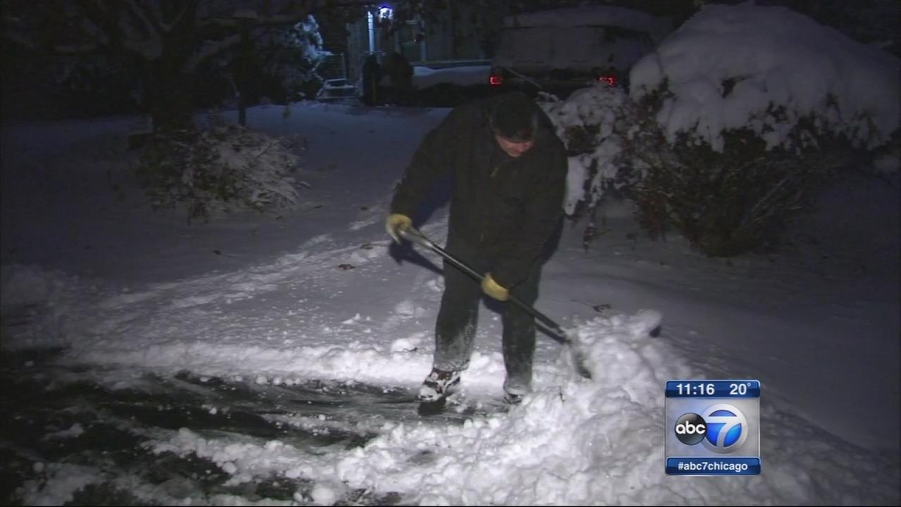 Heavy snowfall leaves more than a foot in many areas
