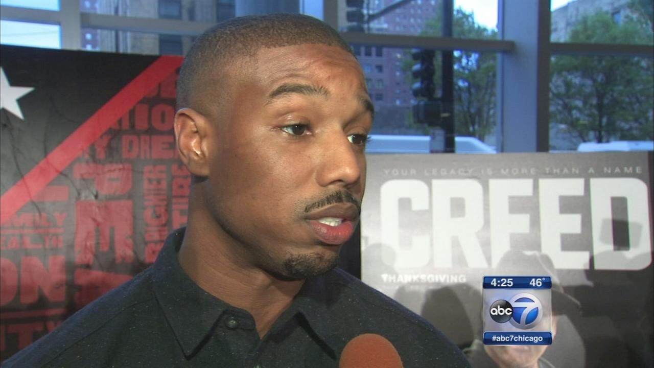 Creed stars talk with ABC7s Janet Davies