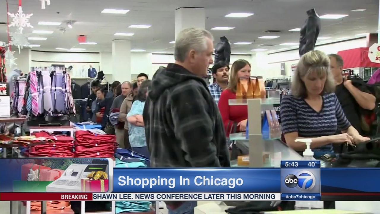 Black Friday shopping in Chicago