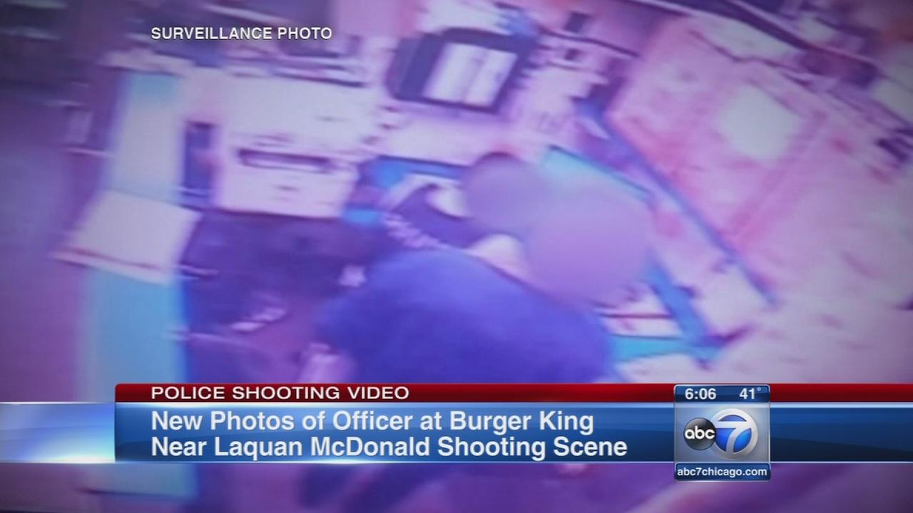 Photos show police at Burger King