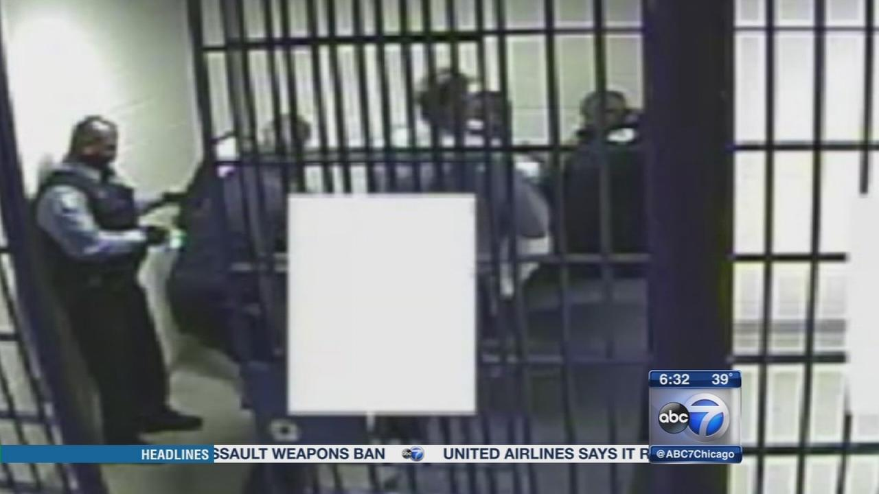Video shows officers using Taser on jailed man