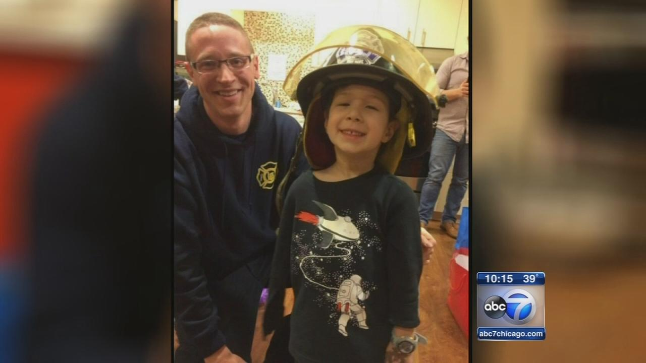 Boy, 4, honored for helping first responders
