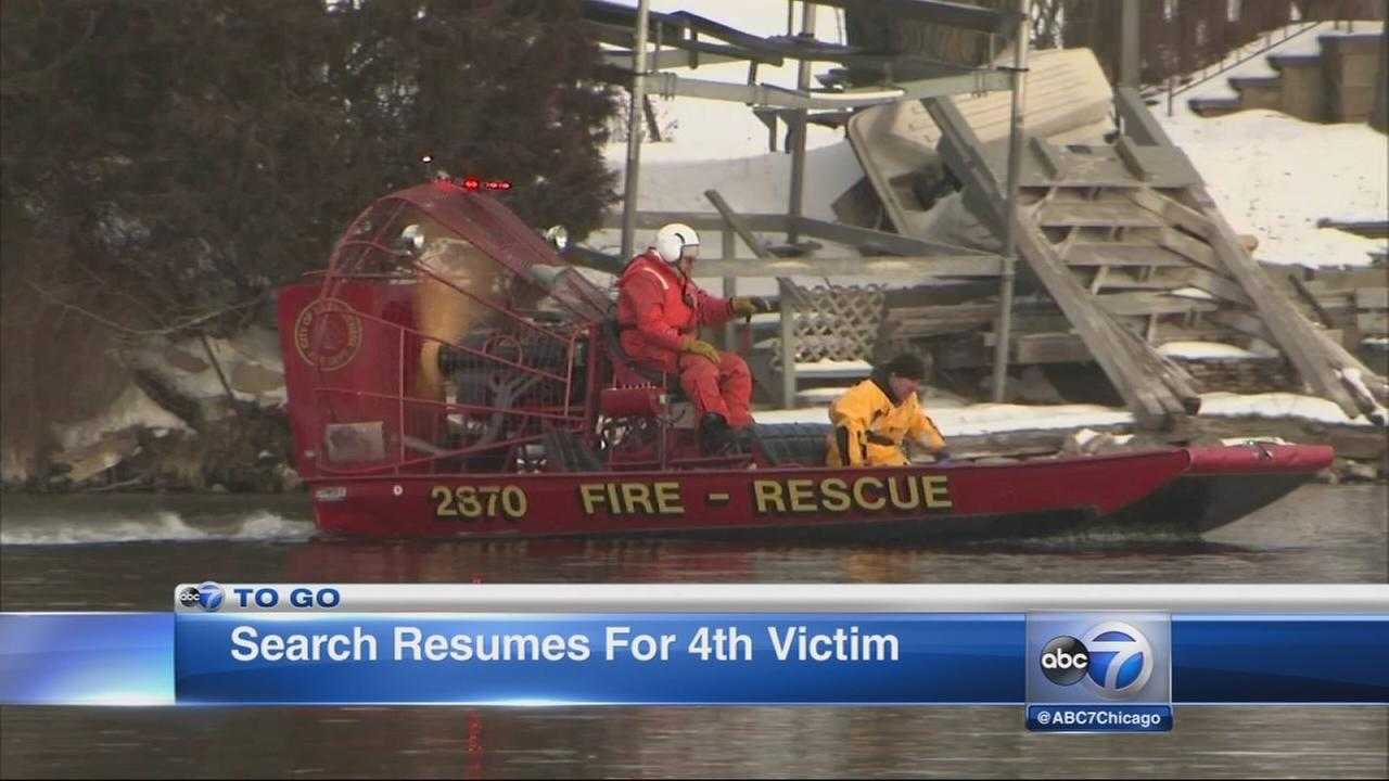 Wisconsin lake search resumes; 3rd victim IDd