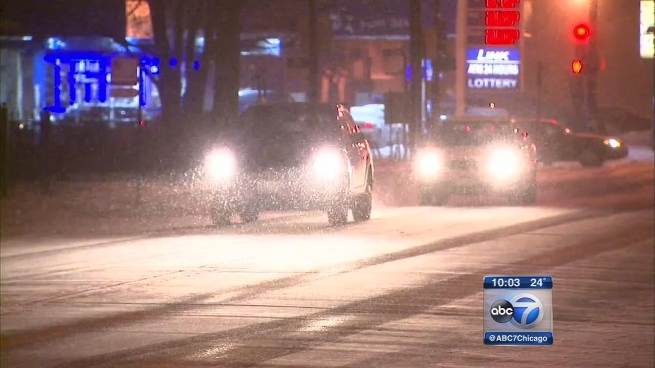 Snow slows evening commute