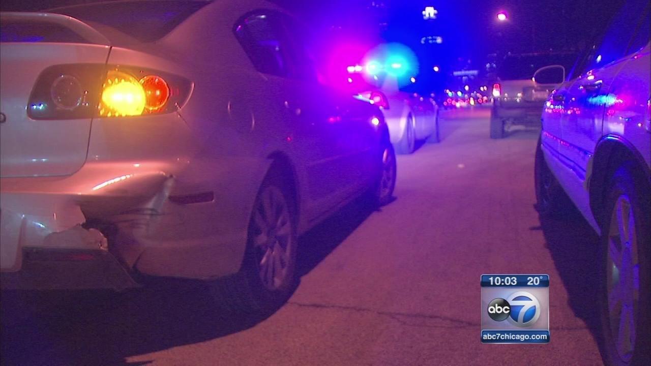 Stolen car chase