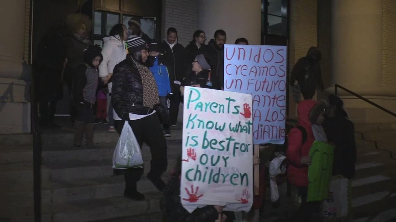 Parents hold sit in to protest school overcrowding