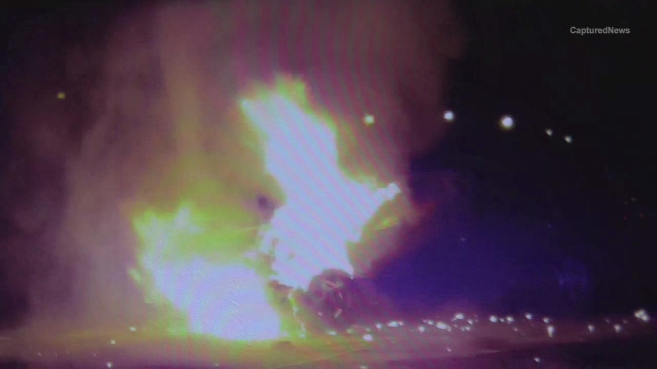 Car explodes on I-57 near 107th Street