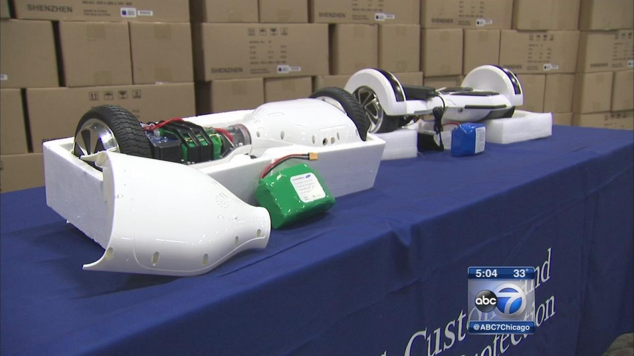 Fake hoverboards seized by customs officers