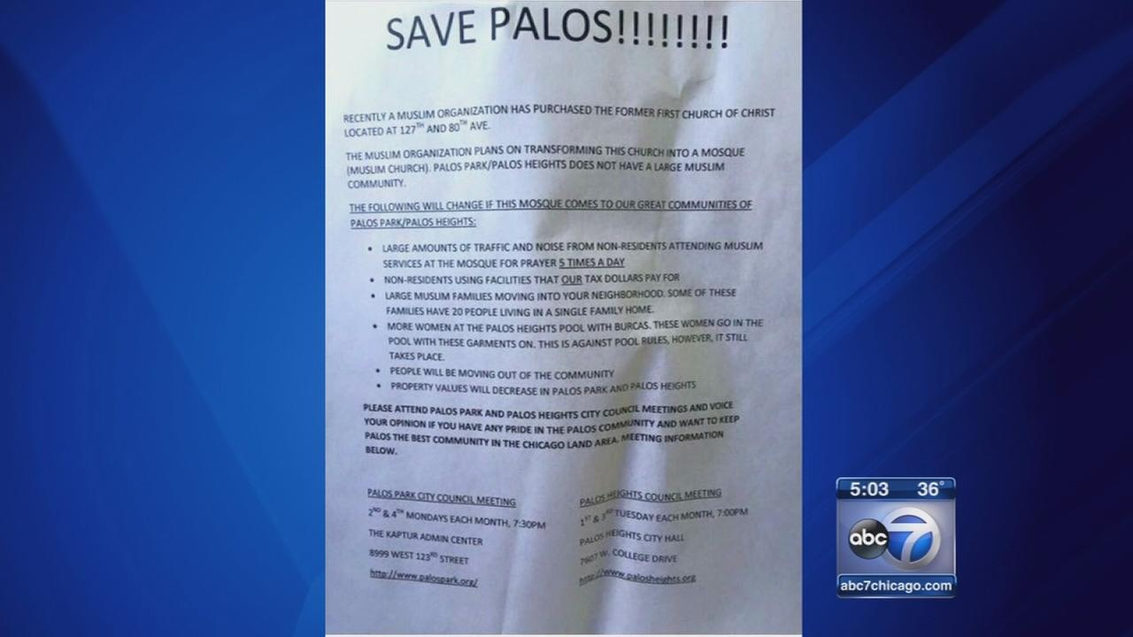 Flyers circulating in SW suburbs fighting new mosque