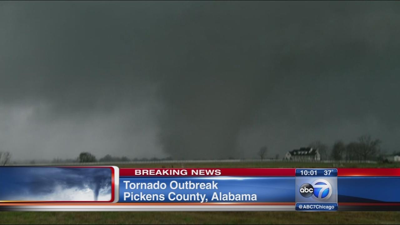 Winter storm brings tornadoes, snow