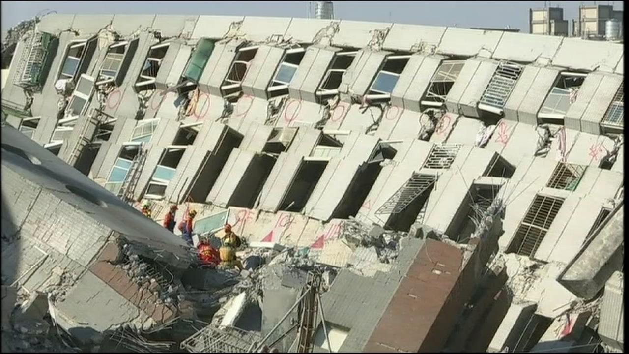 Taiwan earthquake survivors pulled from wreckage
